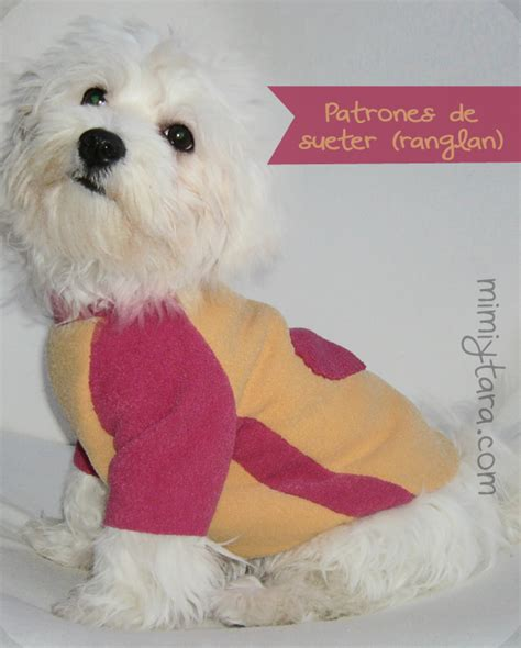 Moldes De Vestido Perro Consejos De Fotografa | patr 243 n de su 233 ter para perro con manga rangl 225 n mimi y tara