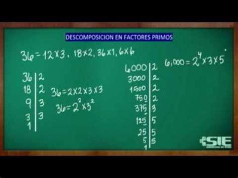 raiz cuadrada de 68 descomposici 243 n en factores primos youtube