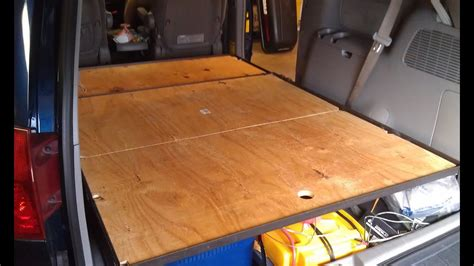 van build part  platform bed build part  blackout