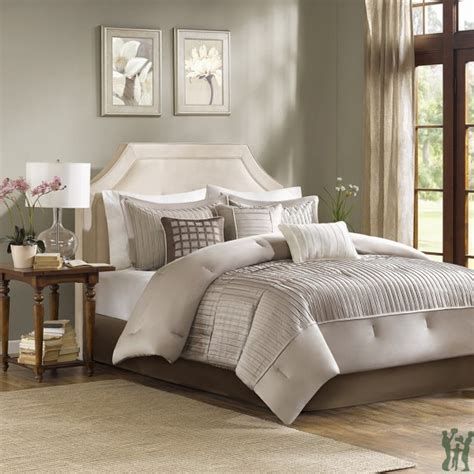 madison park coverlet set madison park trinity 7 piece taupe comforter set