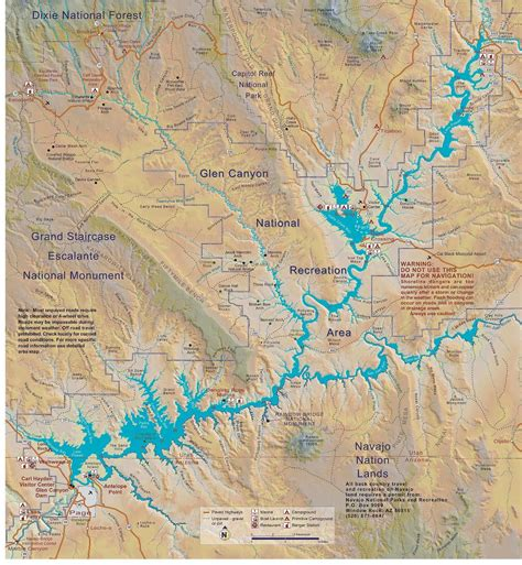 lake powell map file lake powell map pdf