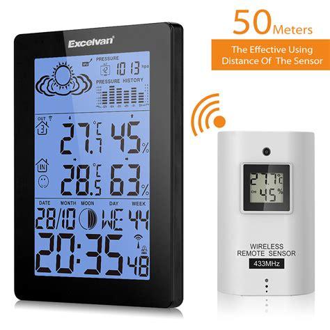 innen außen thermometer funk funk innen au 223 en thermometer wetterstation wecker