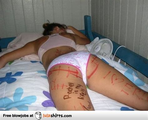 drunk girls passed out naked