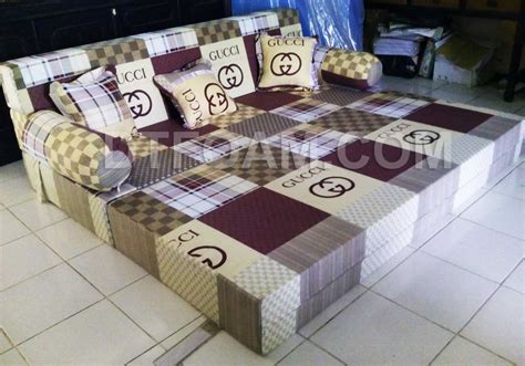 Sofabed Busa Inoac Uk 200x160x20 sofabed inoac gucci coklat muda kualitas ekspor dtfoam