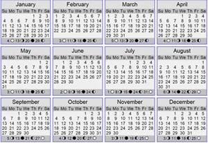 Calendar 365 Moon Lunar Calendar 2017 Newhairstylesformen2014