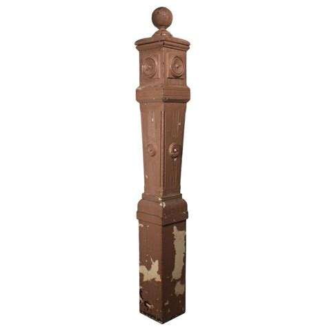 antique newel post l reclaimed antique boxed newel post early 1900s from