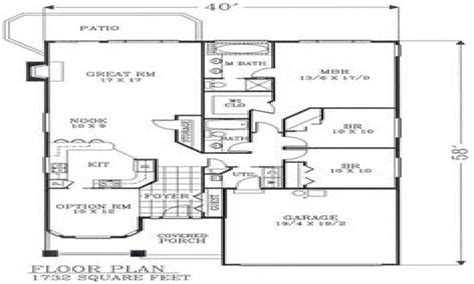 craftsman open floor plans craftsman bungalow floor plans