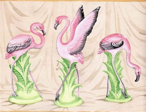 flamingo wallpaper border pink flamingo vases wallpaper border ebay this appeals
