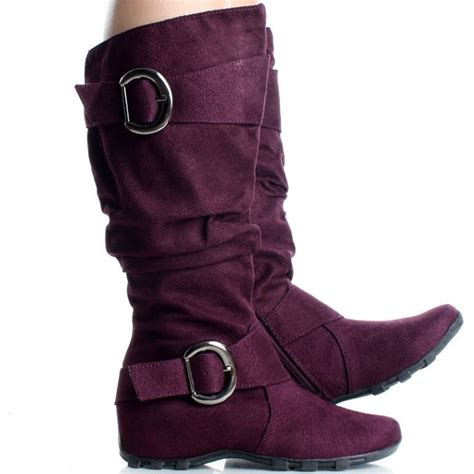 purple flat knee high boots slouch 18 these boots are