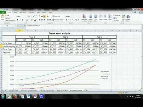 excel magic trick 744 break even analysis formulas chart plotting break even analysis template doovi