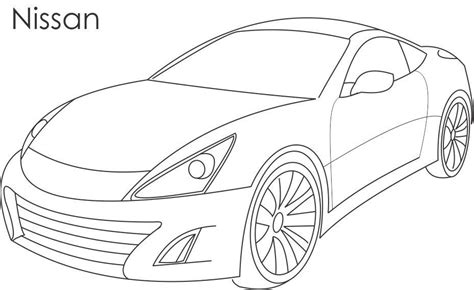 Super car   Nissan coloring page for kids