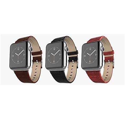 Hoco Bamboo Texture Leather Band For Apple Series 1 2 3 hoco bamboo texture leather band for apple 38mm series 1 2 black jakartanotebook