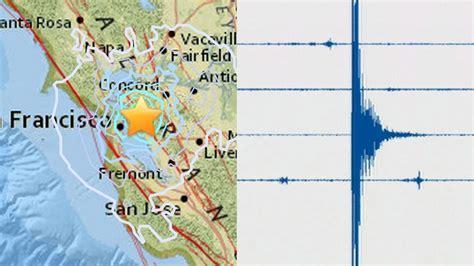 san francisco earthquake map usgs earthquake in san francisco california measured at 4 0