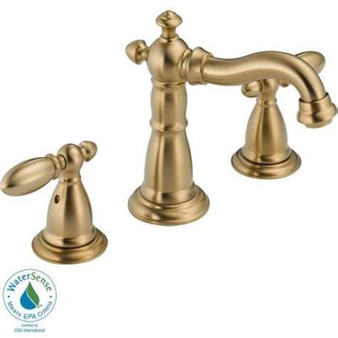 shop delta victorian venetian bronze high arc kitchen delta victorian 8 in widespread 2 handle high arc