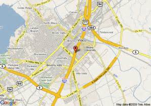 map of 8 waco area waco
