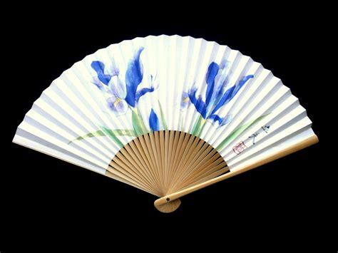 Handmade Fans - japanese fan japanese vintage folding fan flowers f39