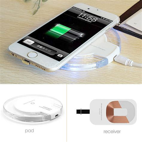 Iphone Qi Chargeur by Qi Wireless Charger Pad Cable Receiver Charging Dock For Iphone 5s 6 6s 7 Plus Ebay