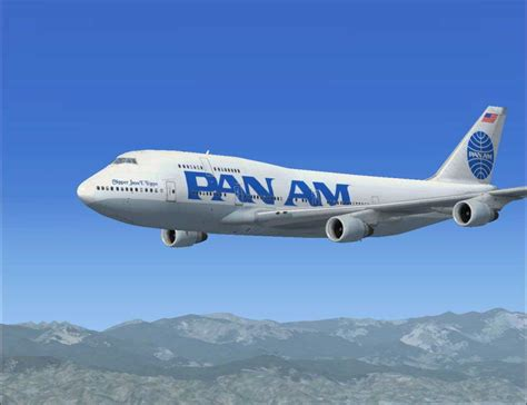 pan am pan am boeing 747 400 for fsx