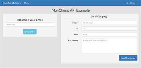 laravel email tutorial laravel 5 mailchimp api integration from scratch with exle