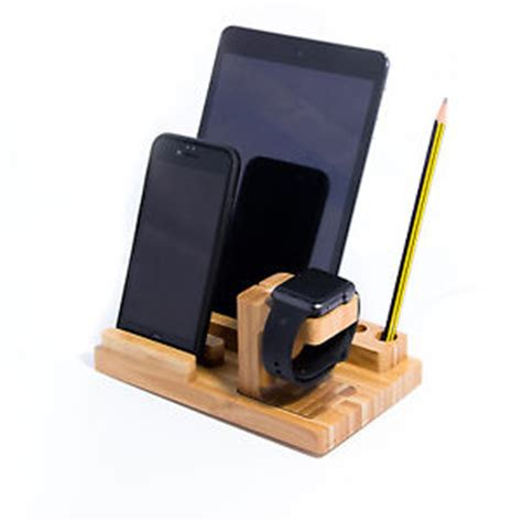 Apple Charger Holder Dock Abs Storage Protective Cover Bag 3 in 1 bamboo desk stand holder charge dock station for apple iphone ebay