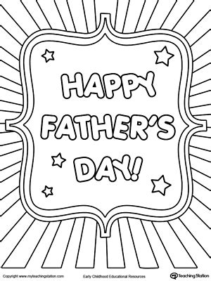 father day cards to color father s day card burst coloring page worksheets free