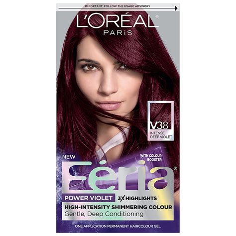 loreal permanent colour permanent colour feria preference pakcosmetics l oreal feria power violet permanent haircolor walgreens