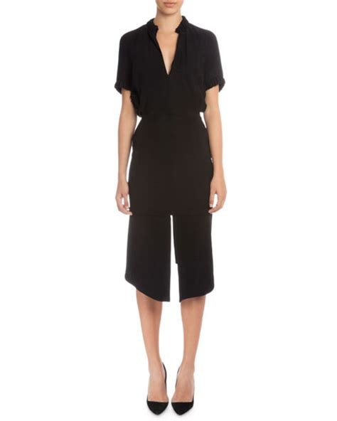 Beckham Sell Outs A Dress Before It Hits The Shop Floor by Beckham Sleeve V Neck Sheath Dress Black