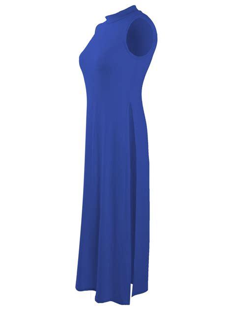 Tunik Blouse Dress Midi Maxi Bluss Atasan Baju Muslim Longdress top high split side midi jersey slit tunic maxi sleeveless vest ebay