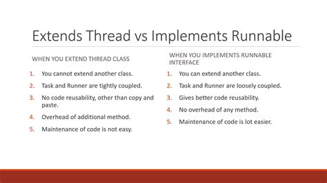 Java Tutorial Runnable | 7 differences between extends thread and implements