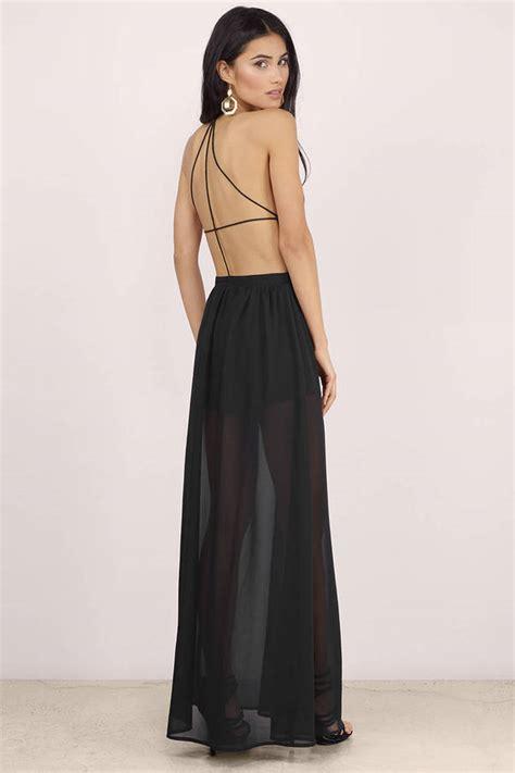 chic black maxi dress   dress black sheer dress