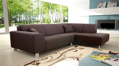 modern brown fabric corner sofa homegenies