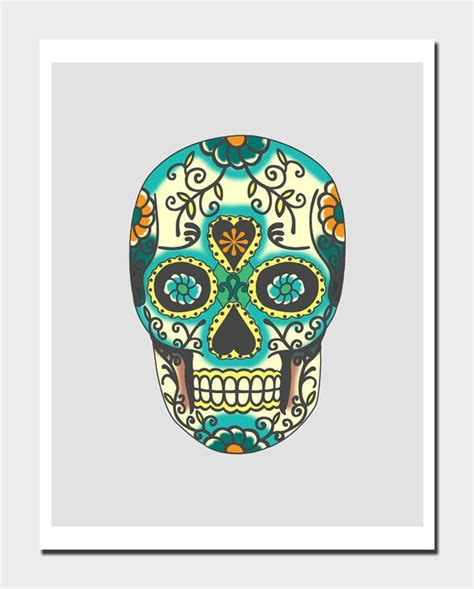 dia de los muertos home decor dia de los muertos skull modern wall art home decor art