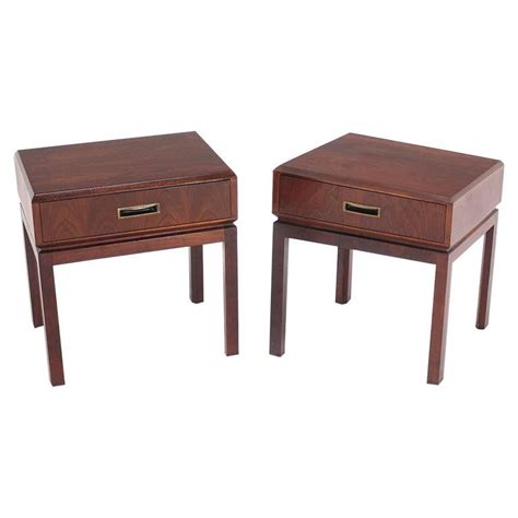 night tables pair of walnut night stands or end tables at 1stdibs