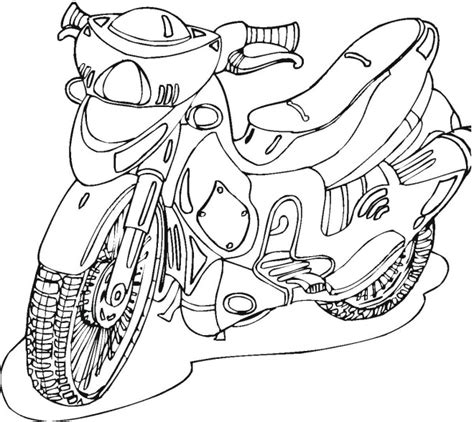 coloring pages of cars and motorcycles motorcycle 2 coloring page