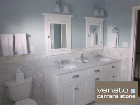 Bathroom Shower Idea Colors 7 00sf Carrara Subway Tile Marble 3x6 Quot Traditional