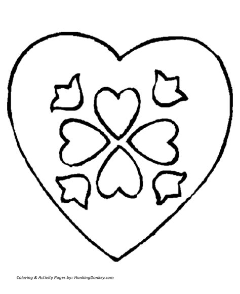 christmas heart coloring page valentine s day hearts coloring pages a valentine s