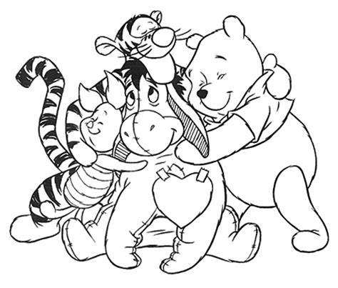 winnie pooh para pintar az dibujos para colorear dibujo para colorear winnie pooh y sus amigos
