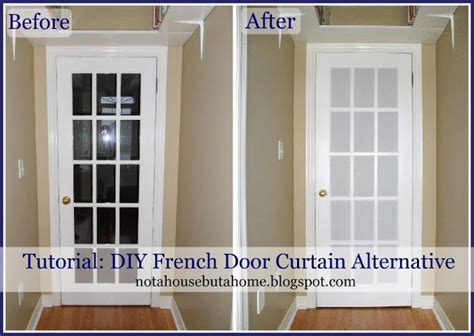 french door privacy curtains not a house but a home tutorial diy french door curtain