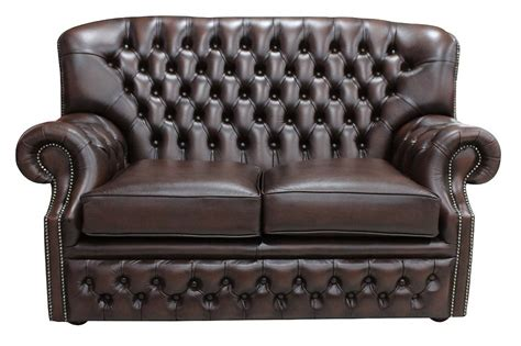 Antique Brown Leather Sofa Monks Chesterfield 2 Seater Antique Brown Leather Sofa Offer