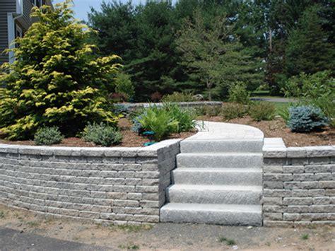 Patio Stone Slabs Connecticut Granite Steps Concrete Steps Landscape Steps