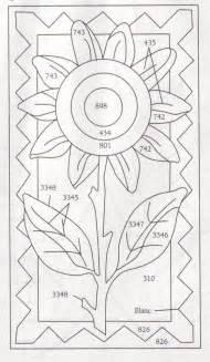Rug Punch Patterns Summer Sunflower Felt Applique Floral Patterns Pinterest