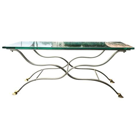 brass hoof feet modern steel coffee table steel jansen