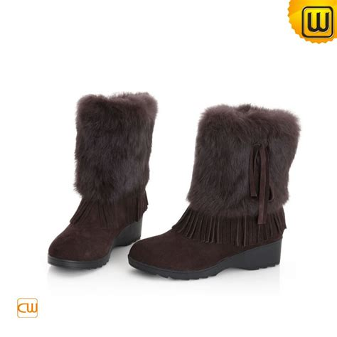 rabbit fur snow boots for cw332103