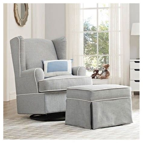 grey glider recliner for nursery from target eddie bauer 174 upholstered wingback swivel