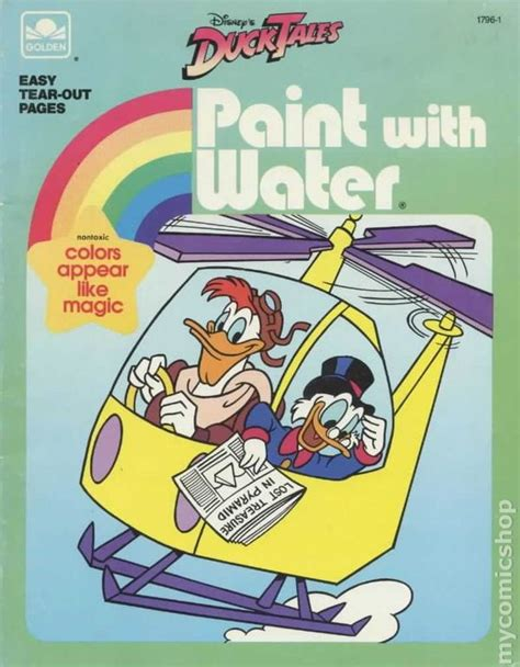 paint with water coloring book ducktales paint with water book sc 1986 golden press