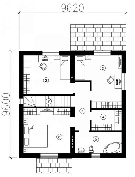 small modern house floor plans meze