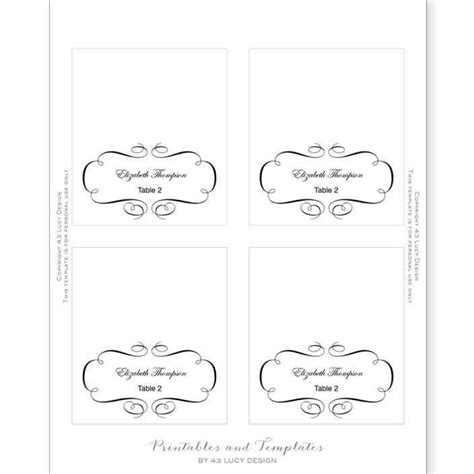 place setting cards template template for name cards for table settings 28 images