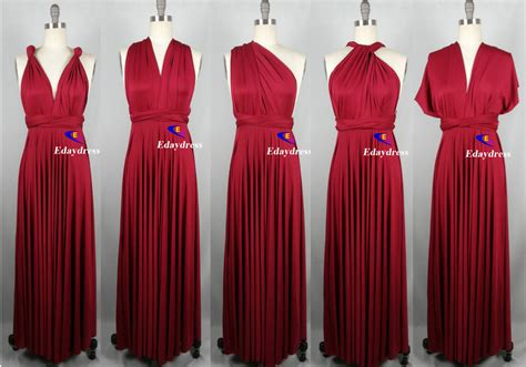 infinity bridesmaids dresses jersey wrap convertible infinity dress evening dresses maroon