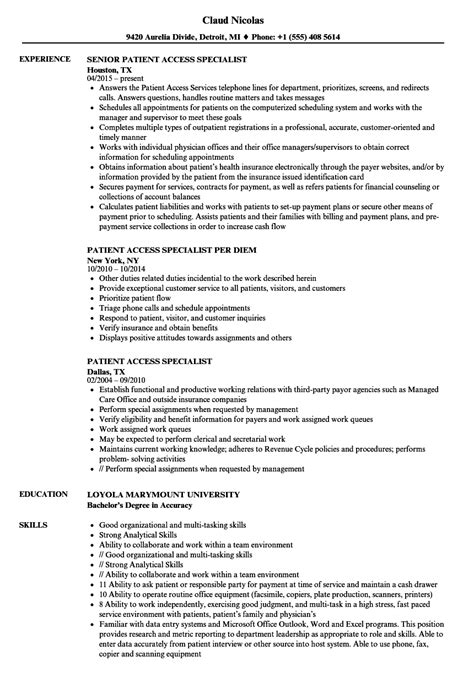 patient service representative resume download patient service