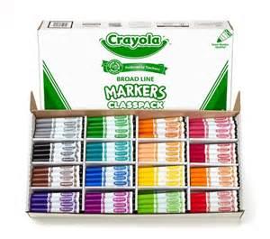 crayola color markers crayola 256 ct classpack 16 color broad line markers